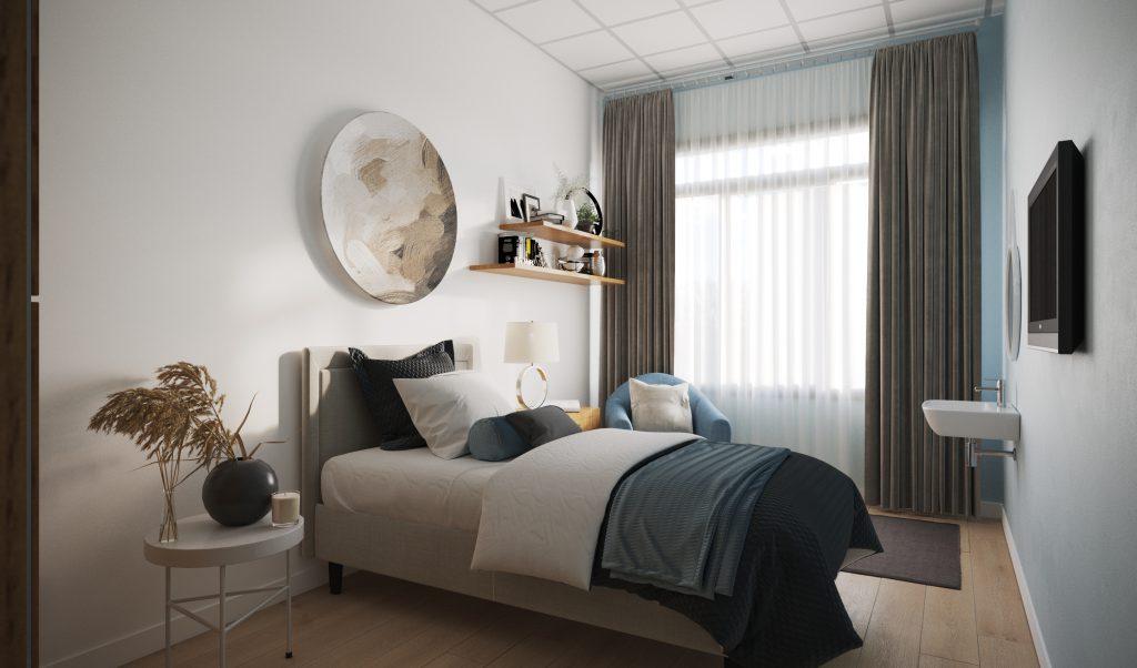 Slaapkamer zijview